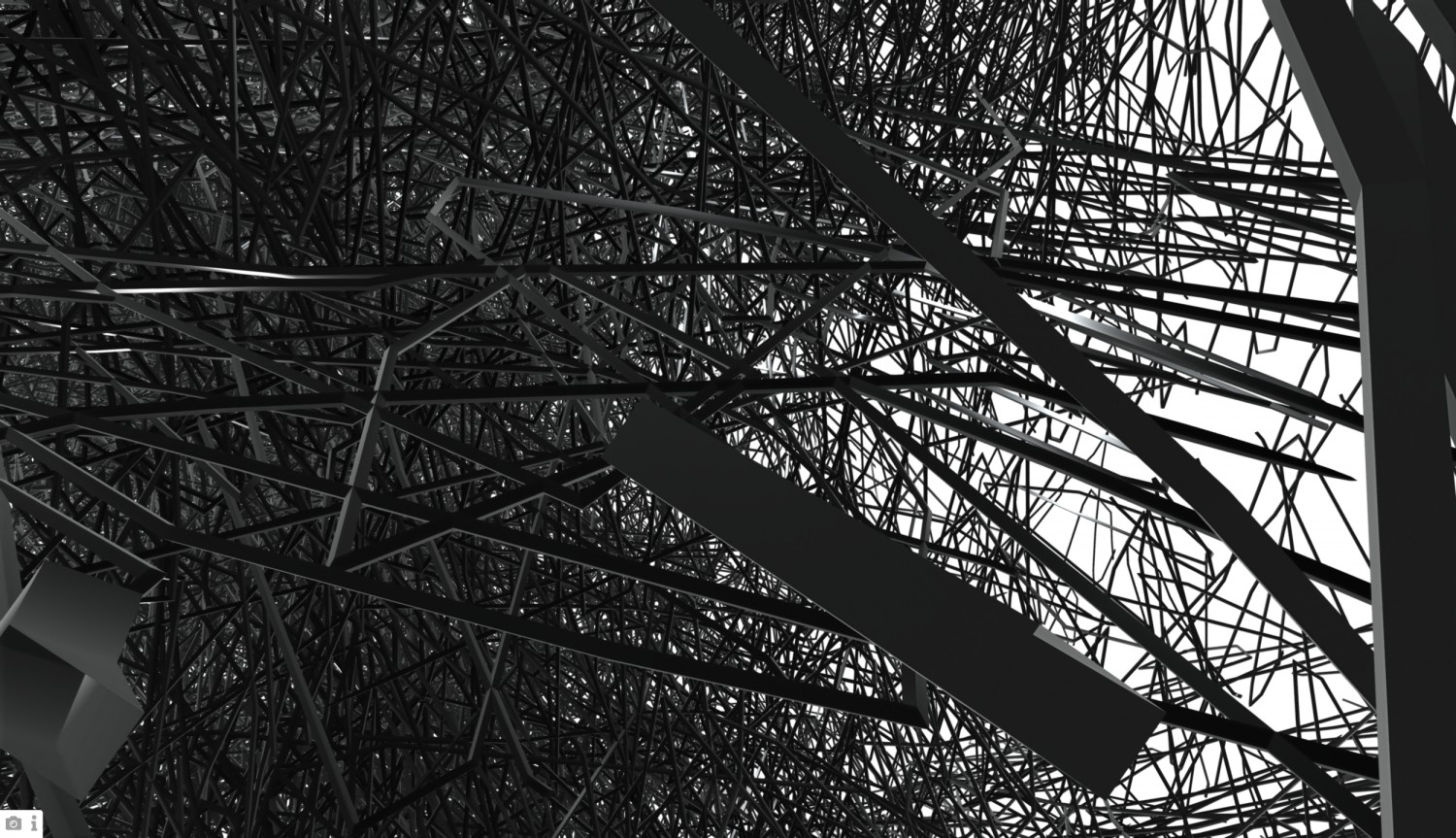 """Screenshot of the project page """"Mirror Montage (wire mesh)"""" by artist Gottfried Jäger in collaboration with Denise Albrecht, Marta Beauchamp and Sonja Mense."""