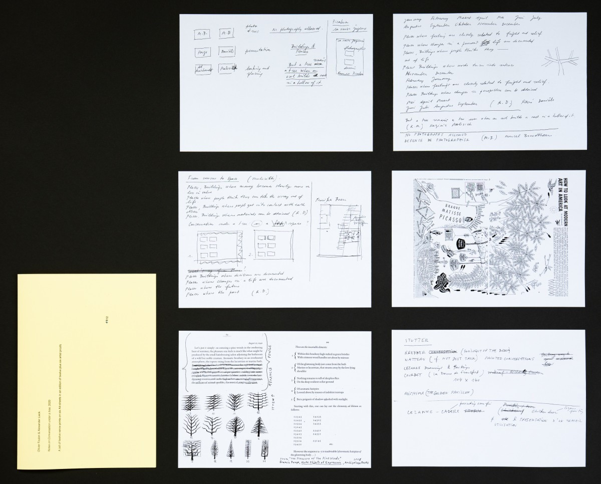 The artwork consists of 6 paper pages. They are printed on both sides. The pages are kept in a yellow wrapper.