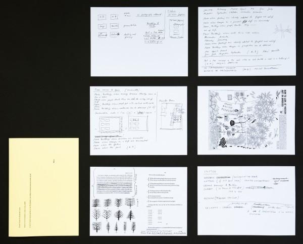 Das Kunstwerk besteht aus 6 Papierseiten. Sie sind auf beiden Seiten bedruckt. Die Seiten werden in einem gelben Umschlag aufbewahrt.