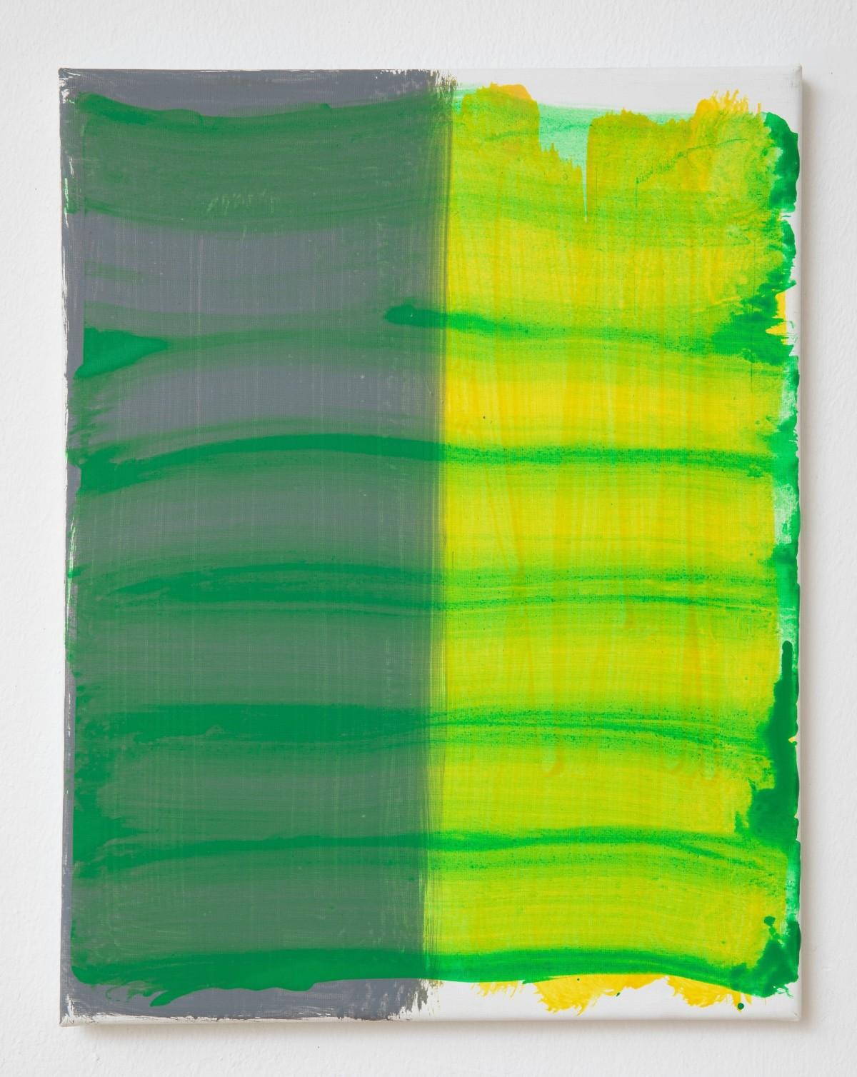 Diese Lein-wand wurde vom Künstler mit Acrylfarbe bemalt. Die verschiedenen Farben wurden unter-schiedlich aufgetragen.