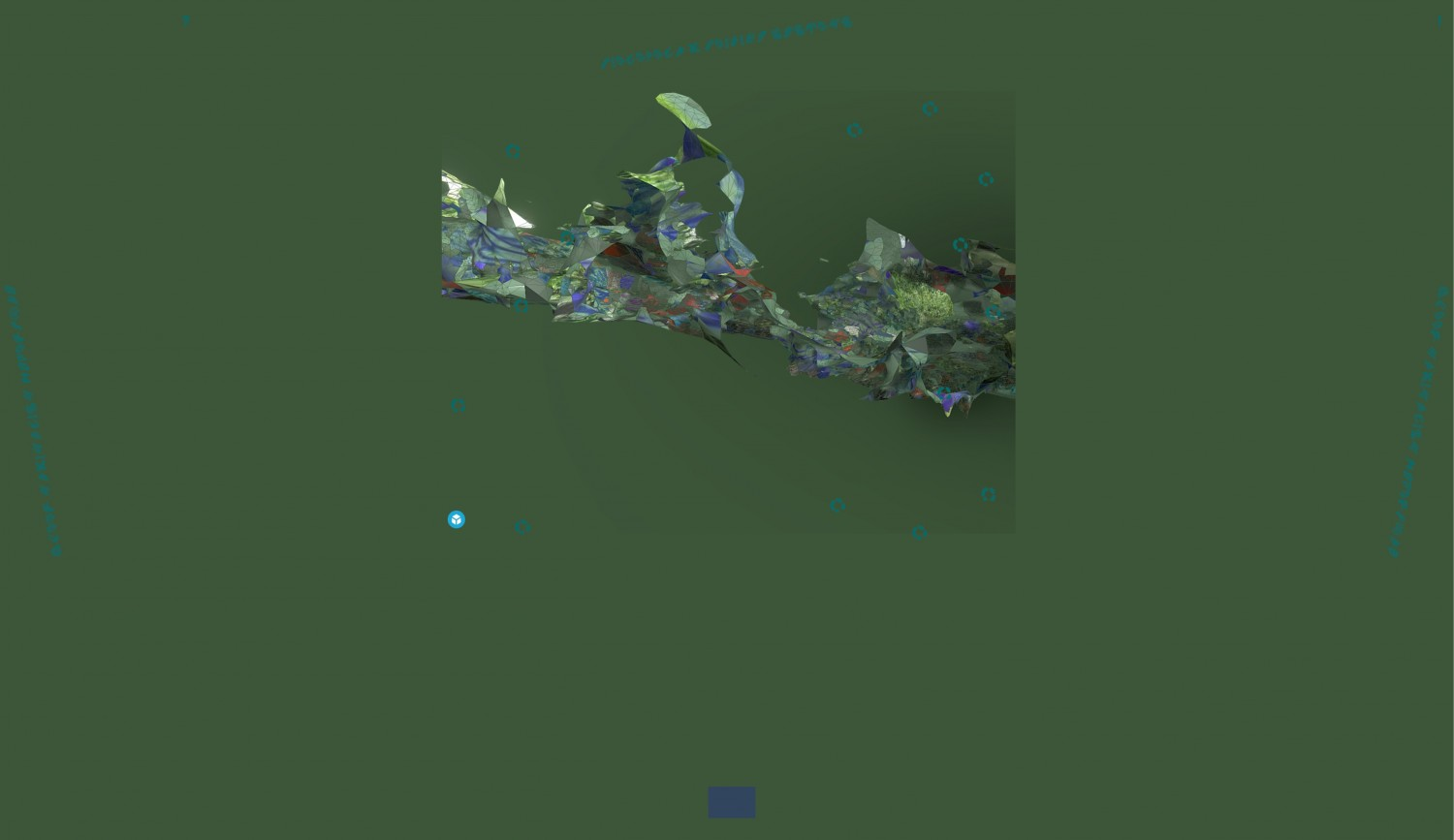 "Screenshot of the work ""Bielefeld.Beijing.Systems"", which focuses on the specific investigation of the interstices between image, architecture and gaming spaces. Especially for the project ""In This Layered World, All Perception Is Real"" the artist Pete Jiadong Qiang has designed an interactive landscape in which the places Bielefeld and Beijing are intertwined. Visitors to the website are invited to navigate through the virtual space and discover hidden hyperlinks."