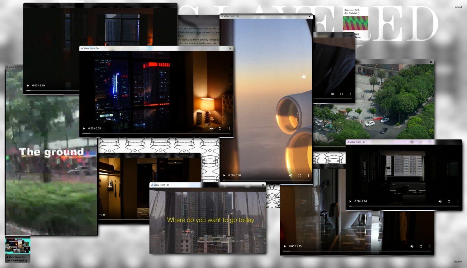 "Screenshot of the intervention ""a view from far"" by the artist Julia Weißenberg."